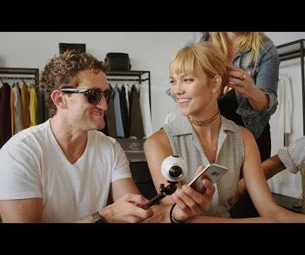 ed23b3b9da Casey Neistat Shows Karlie Kloss the Possibilities of 360 Video